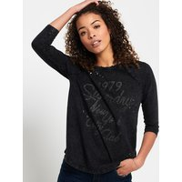 Superdry Studded Raglan Top