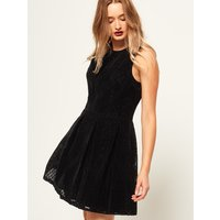 Superdry Flocked Velvet Skater Dress