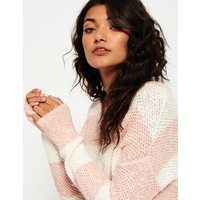 Superdry West Textured Stripe Knit Jumper