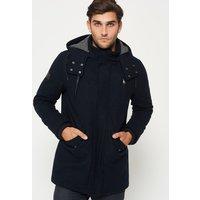 Superdry Glacial Hooded Wool Parka Jacket