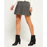 Superdry Pleated Tweed Skirt