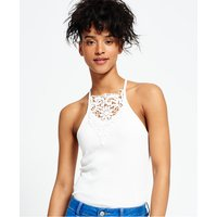 Superdry Lace Front Rib Cami Top