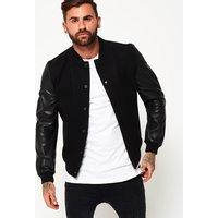 Superdry Varsity Wool Leather Bomber Jacket