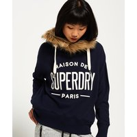 Superdry Applique Fur Slouch Hoodie