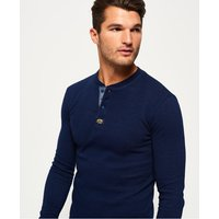 Superdry Heritage Pique Long Sleeve Grandad Top