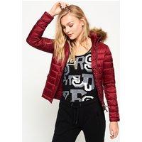 Superdry Luxe Fuji Double Zip Hooded Jacket