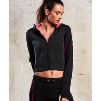 Superdry Gym Tech Crop Zip Hoodie