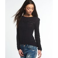 Superdry Folk Lace Panel Blouse