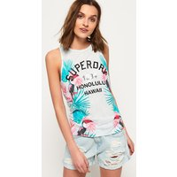 Superdry Tropical Knot Back Tank Top