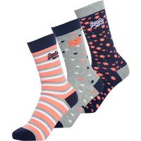 Superdry Floral Heart Socks Triple Pack