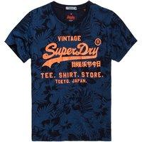 Superdry Shirt Shop Indigo All Over Print T-Shirt