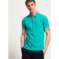 Superdry Classic Bermuda All Over Print Pique Polo Shirt