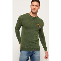 Superdry Garment Dye L.A. Badged Crew Jumper