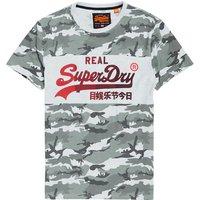 Superdry Camiseta con panel de camuflaje y logo 1st Vintage