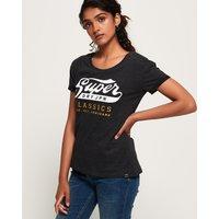 Superdry Classic Logo Broderie Slim Boyfriend T-Shirt