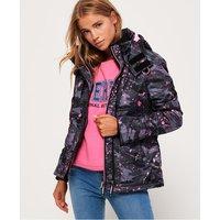 Superdry Arctic Hooded Print Pop Zip Windcheater Jacket