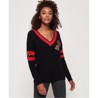 Superdry Alexis Varisity Vee Knit Jumper