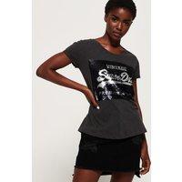 Superdry Premium Sequin Slim Boyfriend T-Shirt