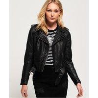 Superdry Kiki Leather Biker Jacket