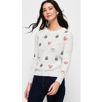 Superdry Layla Embroidered Ribbed Crew Jumper