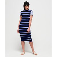 Superdry Sporty Striped Ribbed Knitted Dress