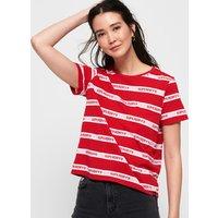 Superdry Cote Stripe Text T-Shirt