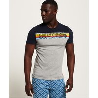 Superdry Cali Stripe Embroidery T-Shirt