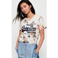Superdry Vintage Logo Photo Rose All Over Print T-Shirt