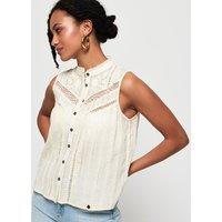 Superdry Lace Mixing Sleeveless Shirt