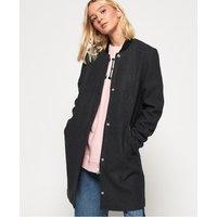 Superdry Longline Wool Bomber Jacket