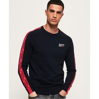 Superdry Stacked Logo Striped Crew Jumper