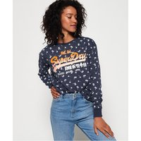 Superdry Ditsy Beach crew sweatshirt