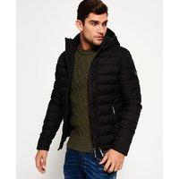 Superdry Fuji Double Zip Hooded Tweed Jacket