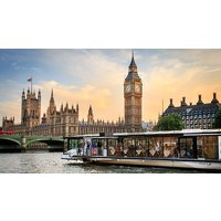 Image of Bateaux London River Thames 5 Course Dinner Cruise for Two with a Bottle of Wine