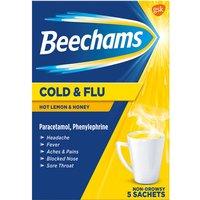 Beechams Cold   Flu Hot Lemon   Honey Sachets
