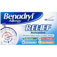 Benadryl Allergy Relief 48 Tablets