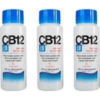 CB12 Mint Menthol Mouthwash 250ml Triple Pack
