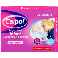 Calpol Sugar Free Infant Suspension Sachets