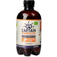 Captain Kombucha Ginger and Lemon Bio Organic Drink 400ml EXP NOV 19