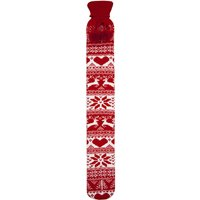 Cassandra Long Hot Water Bottle Nordic Knitted Red
