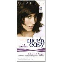 Clairol Nice  n Easy No Ammonia Hair Dye Dark Brown 79