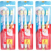 Colgate Extra Clean Toothbrush Three Pack Tri