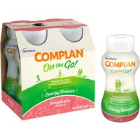 Complan On The Go Energy Release Drink Strawberry Flavour 4x200ml