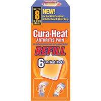 Cura Heat Arthritis Pain Refill 6 Patches