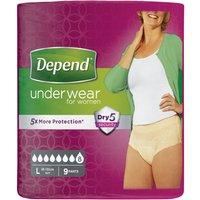 Depend Underwear Female Large 9 s