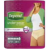 Depend Underwear Female Large 9's Multipack x8
