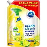 Dettol Clean and Fresh Multipurpose Cleaning Refill Spray Lemon
