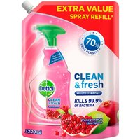 Dettol Clean and Fresh Multipurpose Cleaning Refill Spray Pomegranate