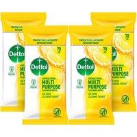 Dettol Power and Fresh Multi-Purpose Citrus Wipes 4 Pack