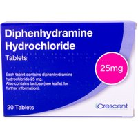 Diphenhydramine 25mg Tablets